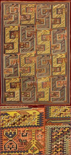 "The term Sumakh points the technique ""wrapped woofs"" used for the weaving of certain kilims and diffused in whole eastAs the techniques of weaving, also the origin of Sumakh design is very ancient: and geometric patterns sometimes unknown as stylized dragons and birds, medallions... symbols full of meanings. For example in the SILEH SUMAKH as this, it is not clear how the dragon pattern got to be interpreted"