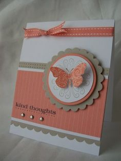 Card - Orange butterfly