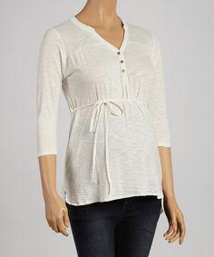 Look at this #zulilyfind! Ivory Tie-Waist Maternity Tunic by Mom & Co. #zulilyfinds