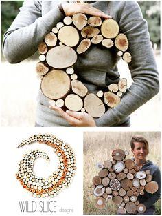 Decoración de madera Luna escultura Wedding recuperada escultura de rebanada de reutilizar reciclar madera árbol rebanada forma abstracta libre