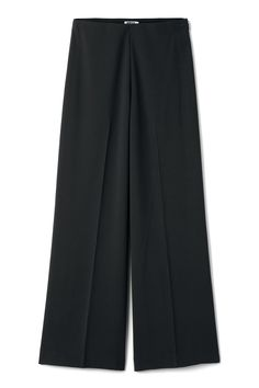 <p>The Julia Trousers have wide, straight legs and a regular, slightly dropped waist. They have a discrete stitching, a zip closure at the left side of the Black Trousers, Legs, Model, How To Wear, Stitching, Closure, Zip, Christmas, Fashion