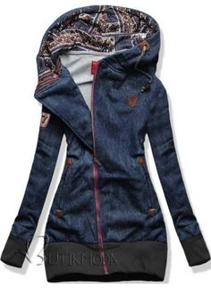 Outfits For Teens, Casual Outfits, Cute Outfits, Sport Pullover, Denim Fashion, Womens Fashion, Diy Kleidung, Denim Crafts, Winter Coats Women