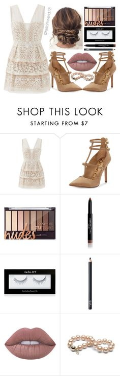 """wedding guest"" by helloimweird13 ❤ liked on Polyvore featuring BCBGMAXAZRIA, Sam Edelman, Givenchy, Inglot, NARS Cosmetics and Lime Crime"