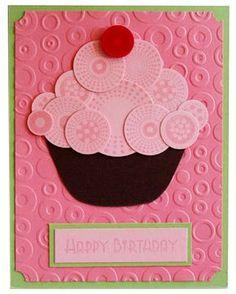 Carte Cupcake anniversaire