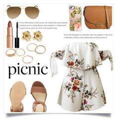 """What to Wear: Picnic!"" by ashaleethornt ❤ liked on Polyvore featuring WithChic, Nine West, Yves Saint Laurent, Charlotte Tilbury, Bobbi Brown Cosmetics, Oscar de la Renta, CÉLINE and Casetify"