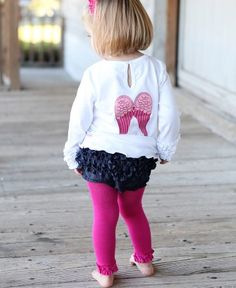 The RuffleButt to go with (almost) everything - Denim Ruffled Bloomer