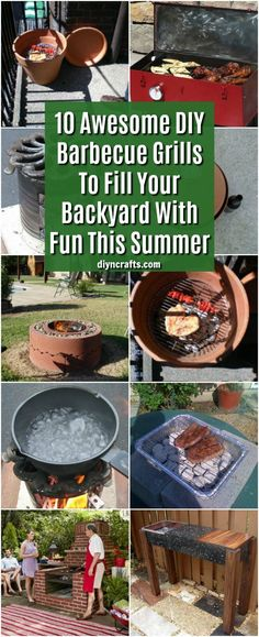 10 Awesome DIY Barbecue Grills To Fill Your Backyard With Fun This Summer #diy #garden #grilling #smokers via @vanessacrafting