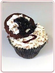 RECETA cupcake selva negra