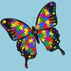 #1. Autism; puzzle butterfly