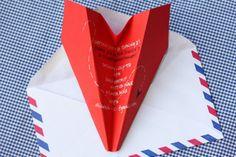 airplane invitations