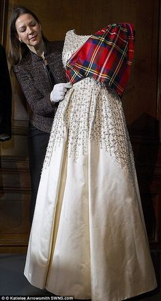 The exhibition - Fashioning a Reign: 90 Years of Style from The Queen's Wardrobe - opened earlier this year at the Palace of Holyroodhouse in Edinburgh