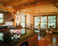 Timber frame kitchen and dining.