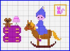 Elf on a rocking horse