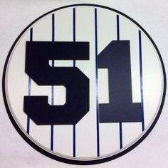 Retired Number 51 Plaque Yankees Bernie Williams