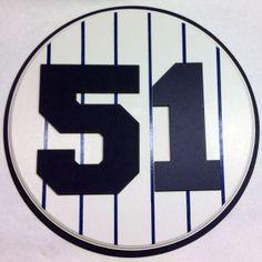 Retired Number 51 Plaque Yankees Bernie Williams