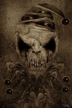 Surrealistic Horror by Andre D Marco Creepy Clown, Creepy Art, Joker Clown, Dark Gothic, Gothic Art, Arte Horror, Horror Art, Haunted Carnival, Bd Art