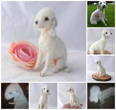 Bedlington Terrier,needle felted | by adore62