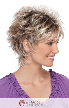 The spunky Christa by Estetica Designs features a short layered cut, with plenty of soft wispy curls to add volume and charm. The tapered nape of the wig accentuates your neck, while the volume enhancing curls add a bit of sassy fun to this beautiful wig. The breathable design of the cap boasts thin resilient dual elastic sides, which ensures comfort and a precise fit day and night. Made with synthetic hair, the Christa is a low maintenance wig that can take you from daytime professional to…