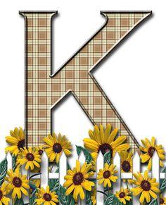 Letra con verja floral.....K