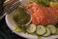 Healthy dinner with salmon using VIctoria's Garden Grown Kale Lemon Herb Dressing as a marinade.