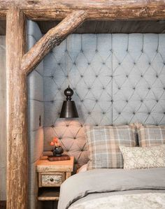 Whole new level for this tufted headboard!