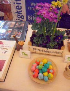 Unternehmerinnen von heute auf der 2.UTS-Messe: Färben mit Pflanzen