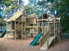 Wooden Swing Set Wooden Play Set Swing Sets Forts | eBay