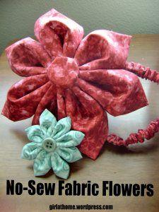 No-Sew Fabric Flowers Tutorial