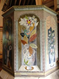 Vanessa Bell and Duncan Grant Pulpit, Berwick Church, Lewes, East Sussex, England, via Flickr.