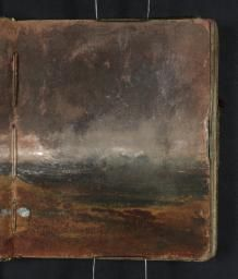 Joseph Mallord William Turner 'View from Blackheath with St Paul's Cathedral in the Distance', - Gouache, graphite and watercolour on paper - Dimensions Support: 113 x 93 mm - Collection - Tate Dark Landscape, Landscape Drawings, Landscape Paintings, Abstract Landscape, Joseph Mallord William Turner, Contemporary Abstract Art, Seascape Paintings, Paper Dimensions, Watercolor Techniques