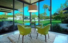 Luxurious: The Palm Springs residence was built by renowned architect Donald Wexler and wa...