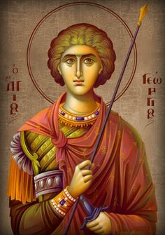 Byzantine Icons, Byzantine Art, Religious Icons, Religious Art, Saint George, Orthodox Icons, Michel, Art Pictures, Christianity