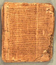 The oldest papyrus in the world...A near complete codex of The Gospel of John.