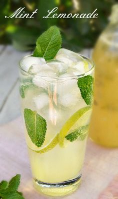 3 cups Sugar 2 cups Water cup Lemon Zest 2 cups Fresh Lemon Juice (about 10 Lemons) 1 cup Fresh Mint, leaves only, chopped Only a few minutes of boiling, some cooling and you have a concentrated Syrup for the most delicious, refreshing Mint Lemonade ! Refreshing Drinks, Fun Drinks, Yummy Drinks, Healthy Drinks, Healthy Lemonade, Beverages, Non Alcoholic Drinks, Cocktail Drinks, Cocktail Recipes