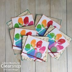 Latrice shares a fun technique using the ColorBox Doodlebug Pigment Petal. Check out the set of cards she made:  - Petal Point Stamping - Clearsnap Blog
