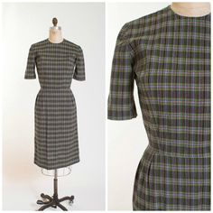 Hey, I found this really awesome Etsy listing at https://www.etsy.com/listing/241230927/1950s-vintage-dress-swiss-dot-plaid