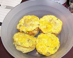 Egg & Chicken muffins - the ultimate go-food!