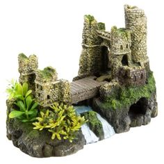 "$21 = Top Fin® Castle Bridge Aquarium Ornament | Dimensions: 9""L x 6.5""W x 4""H Ornaments 
