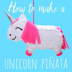 How to make a unicorn piñata. This is such a fun idea for a unicorn birthday party!  #unicórnio #unicorn #unicorncraft #pinata #piñata #birthdayparty #unicornparty