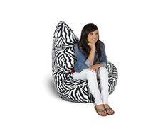 Bean Bag Factory Large Zebra Bean Bag Chair Skin/Cover **Brand New**