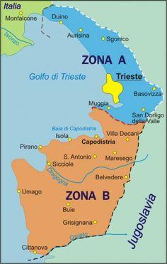 Trieste Il territorio triestino conteso dagli occupanti entrò a far parte nel 1947 sotto l'egida ONU del Territorio libero di Trieste, diviso in 2 zone d'occupazione: la Zona A occupata dagli alleati e la Zona B occupata dagli iugoslavi. Il 5 ottobre 1954 si arrivò al Territorio Libero di Trieste secondo le 2 zone già assegnate #TuscanyAgriturismoGiratola
