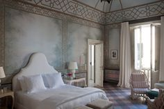 Jacques Grange designed this suite with inspiration from Sofia Coppola...