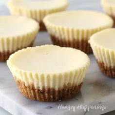 The BEST Mini Cheesecake Recipe. These cheesecake cupcakes are the creamiest, dreamiest, cheesecakes ever! The BEST Mini Cheesecake Recipe. These cheesecake cupcakes are the creamiest, dreamiest, cheesecakes ever! Mini Cheesecakes, Mini Cheesecake Cupcakes, Plain Cheesecake, Mini Cheesecake Recipes, Cupcake Recipes, Dessert Recipes, Cheescake Bites, Cream Cheese Cheesecake, Cheesecake Wedding Cake
