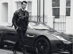 David Gandy for GQ Style Brasil - Winter 2014 (Foto: Arnaldo Anaya Lucca) David Gandy, David Beckham, Gq Style, Style Icons, Leather Jacket Outfits, Men's Leather Jacket, Modern Gentleman, Gentleman Style, Gentleman Quotes