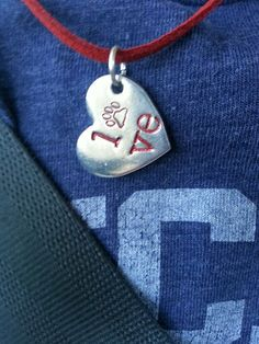 Wearing our All U need is #Love #Heart #Necklace today.