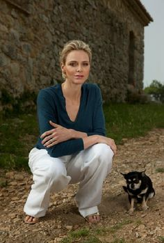 New photos of Princess Charlene of Monaco. These photos was taken at Roc Agel royal residence. (Photos of taken by the photographer Christopher Morris).