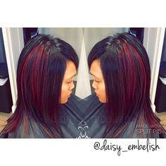 Downtown Campbell: C O L O R & C U T || #embelishlounge #daisy_embelish #embelishhairlounge #punkycolors #panels #peekaboohighlights #haircut #hairstylist #hairsalon #haircolorist #haircolor #sanjose #sanjosehairstylist #campbell #bayarea #follow #randco #lorealprous #loreal #majirel #dialight by daisy_embelish