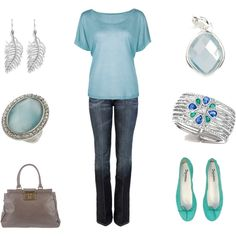 I can't wear light blue shirts, but maybe a white shirt with all the accessories!