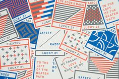 Lucky 21    brand identity created by Blok