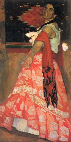 Danzatrice di jarabe, 1913 by Saturnino Herrán (Mexican 1887-1918)